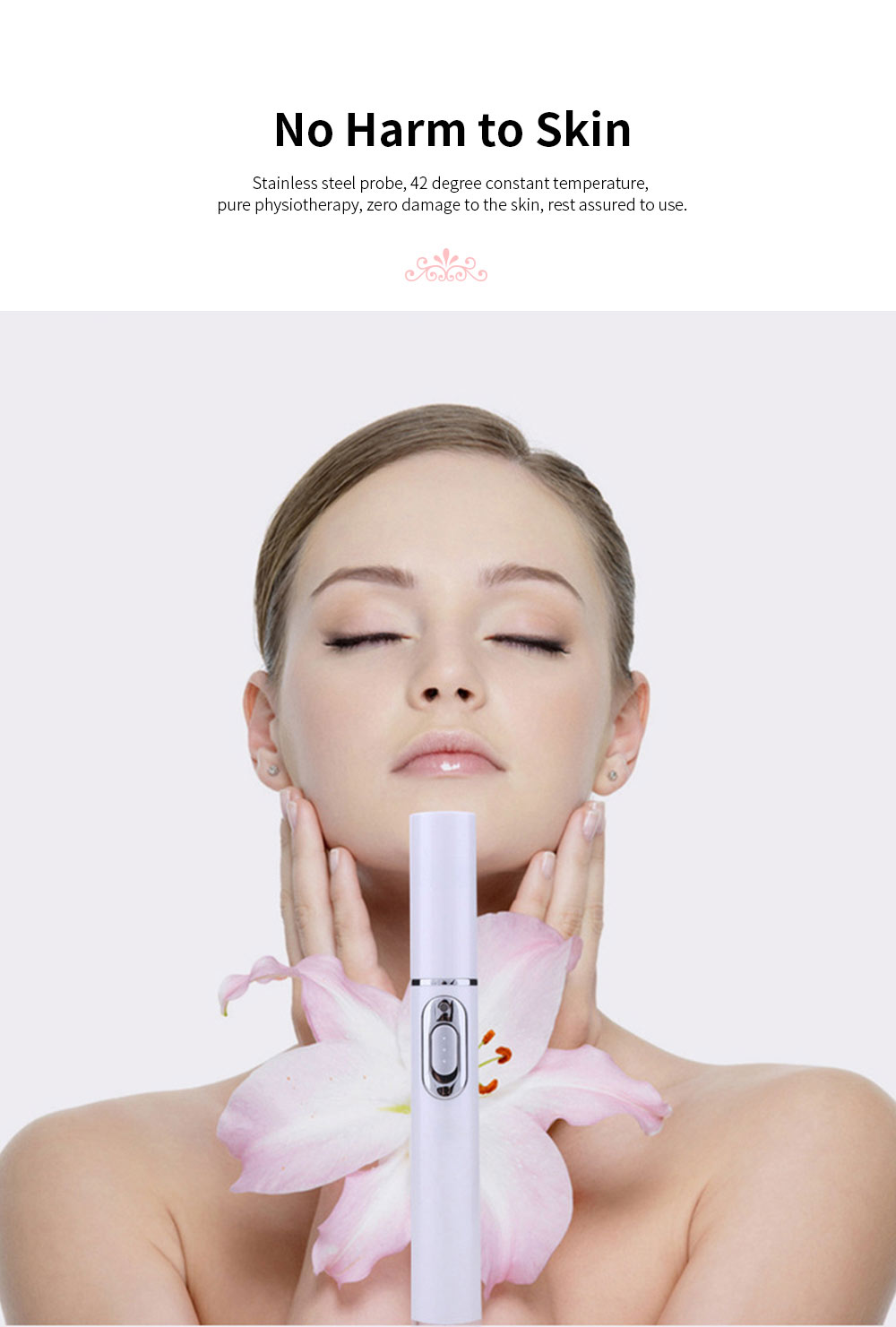 Blue Light Acne Pen Portable Acne Scar Removal Machine Battery Powered Face Beauty Machine for Skin Repairing 1