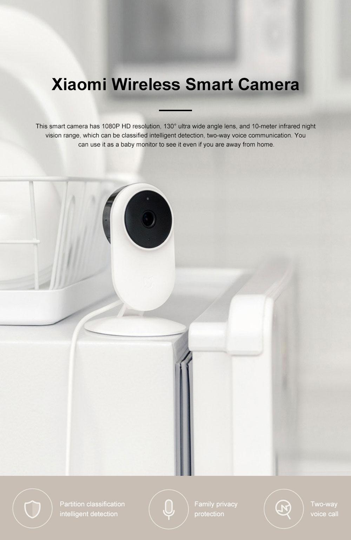 Xiaomi Wireless Smart Camera 1080P Home Monitoring Micro Infrared Night Vision HD Camera Security Camera Baby Monitor 0