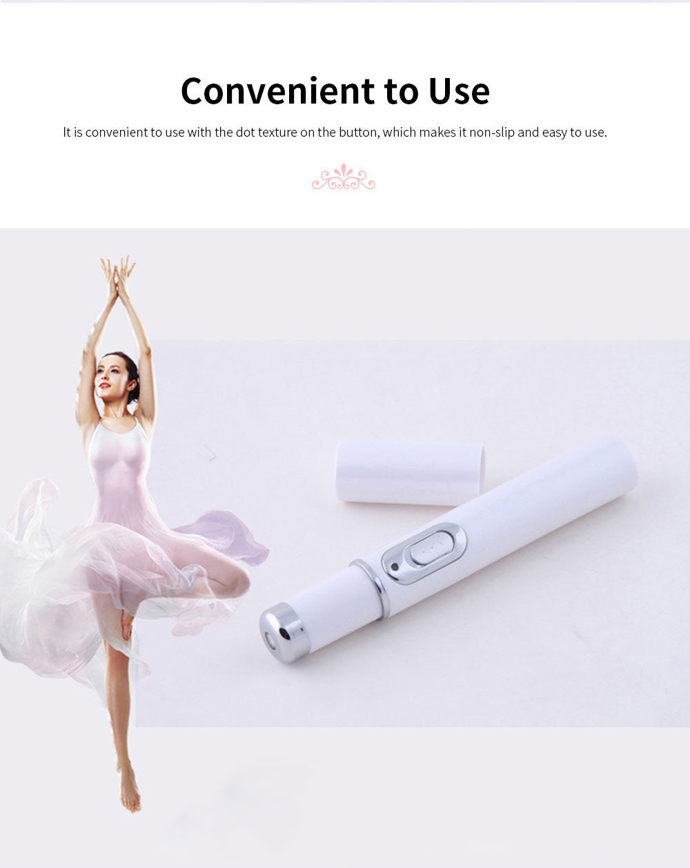 Blue Light Acne Pen Portable Acne Scar Removal Machine Battery Powered Face Beauty Machine for Skin Repairing 3