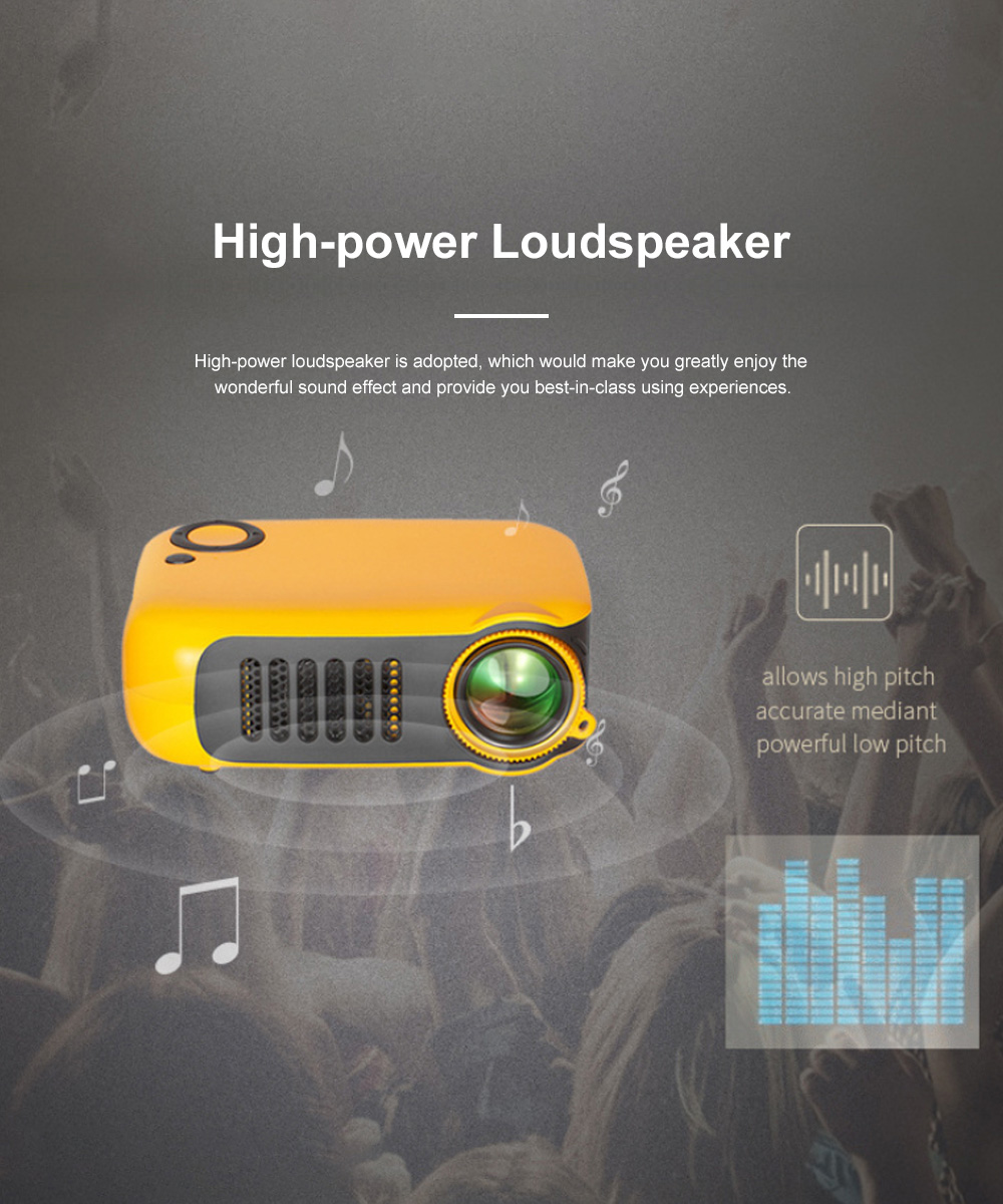 A2000 Mini Portable Household High Lightness Desktop Projector HD 1080P Projection with Wide Compatibility 1