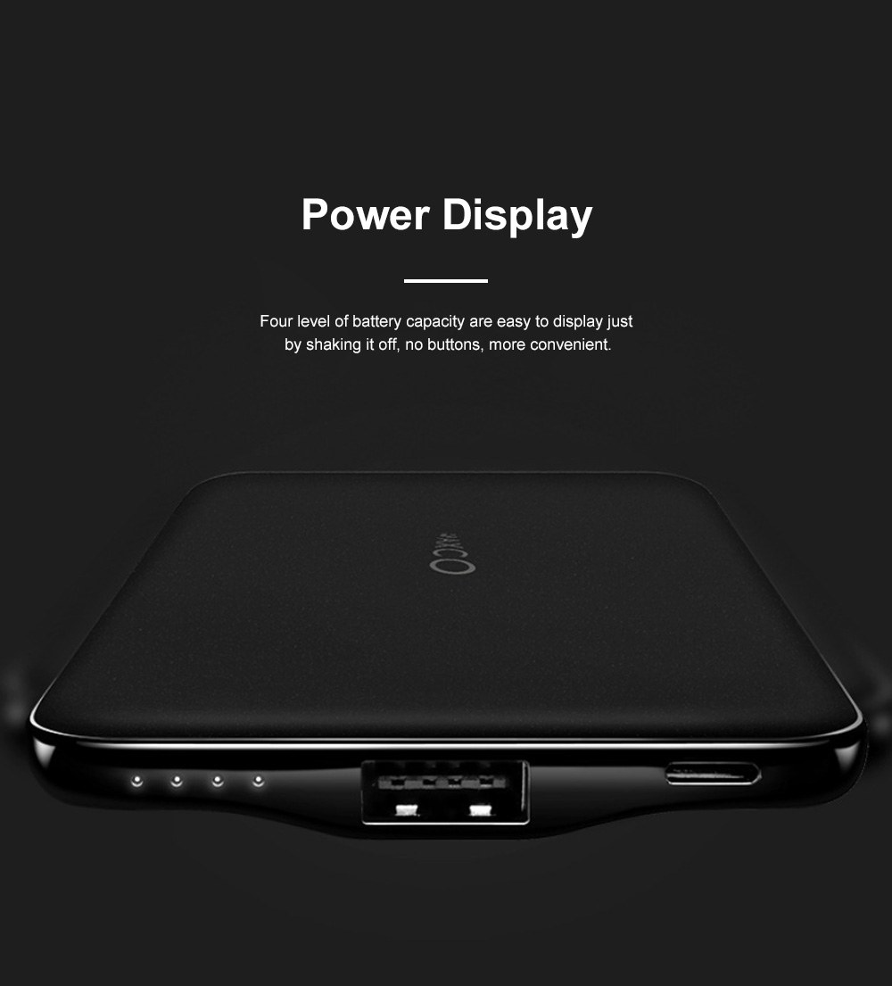 Ultra Slim 11mm Power Bank 8000mAh Quick Charging Mobile Power Supply For iPhone X iPhone 11 Pro 1