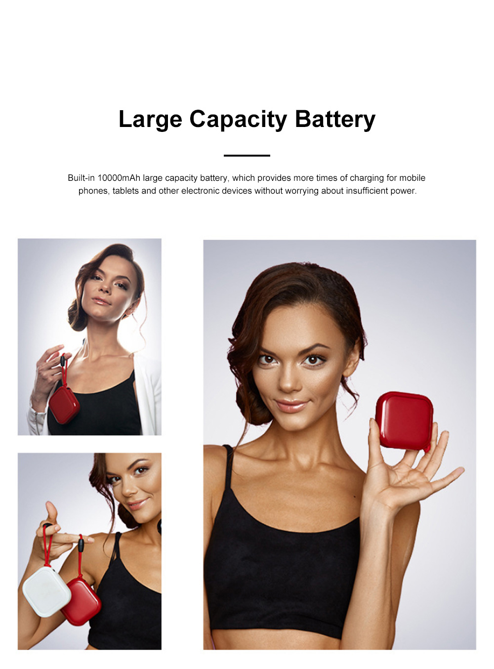 MIPOW Portable QI Wireless Power Bank 10000mAh Dual Use Support Wired Mobile Charger for Phone Tablet Charging 6