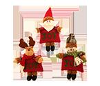 Christmas Decorations Small Dolls Ornaments