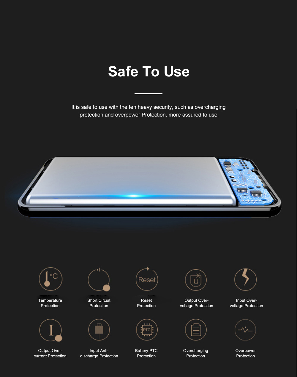 Ultra Slim 11mm Power Bank 8000mAh Quick Charging Mobile Power Supply For iPhone X iPhone 11 Pro 6