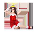 Girls Christmas Skip Dress