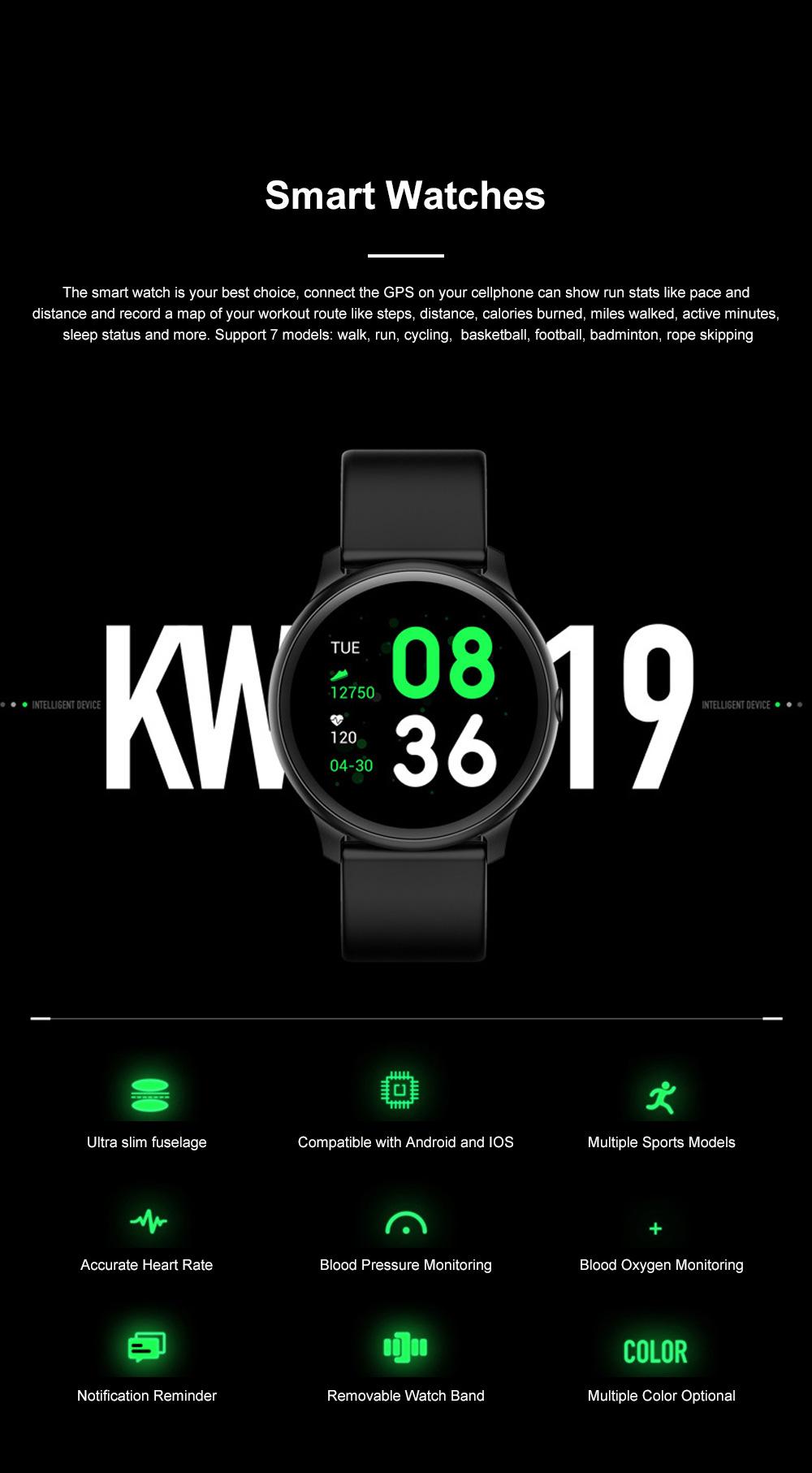 Smartwatch Bracelet Round Screen Heart Rate Meter Blood Pressure Blood Oxygen Sleep Monitoring Smart Watches for Men Women Sports Watch 0
