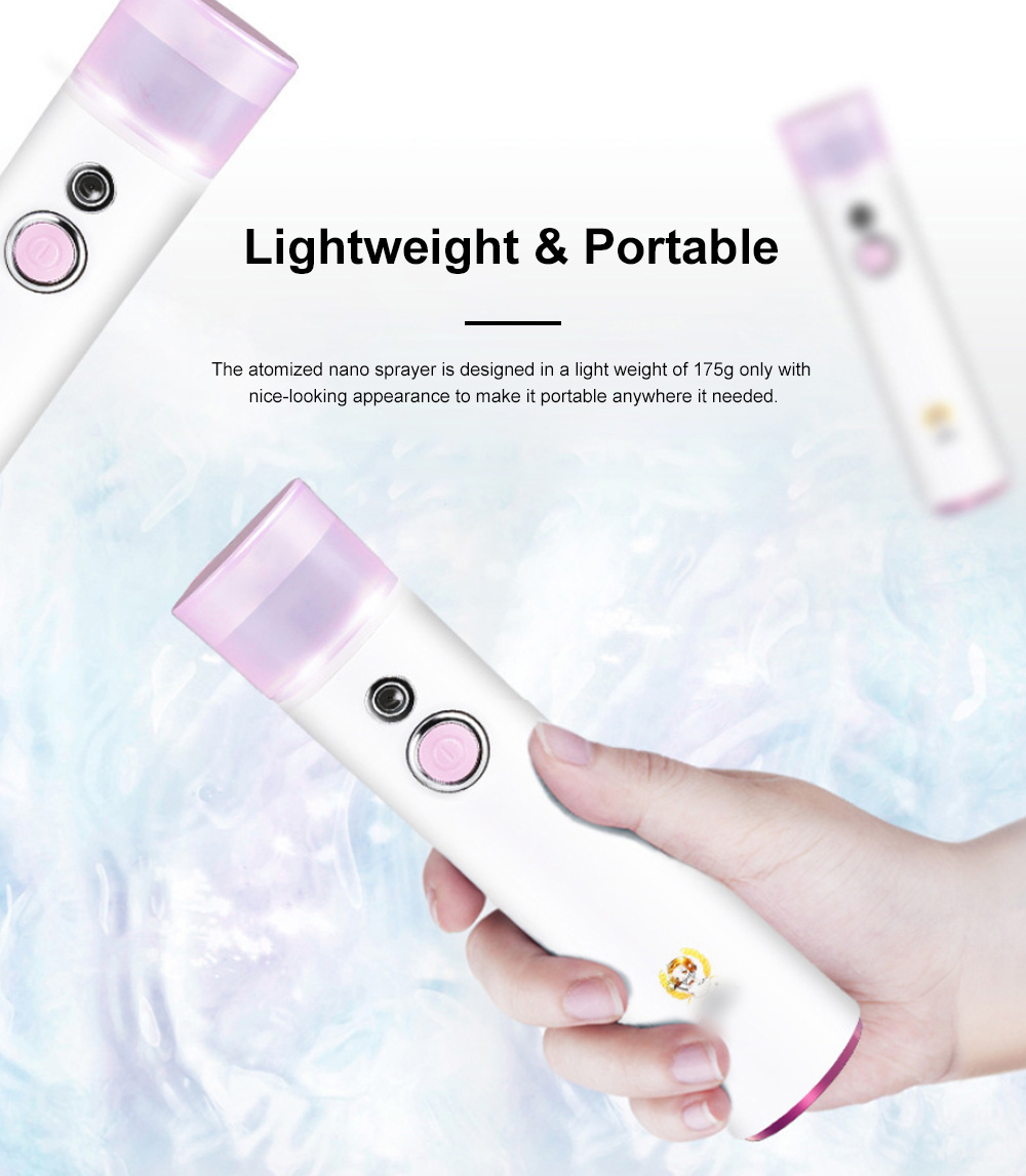 Nano Sprayer for Women Use Portable Rechargeable Cool Spraying Instrument Facial Moisturizer Atomized Facial Water Supply Instrument 3