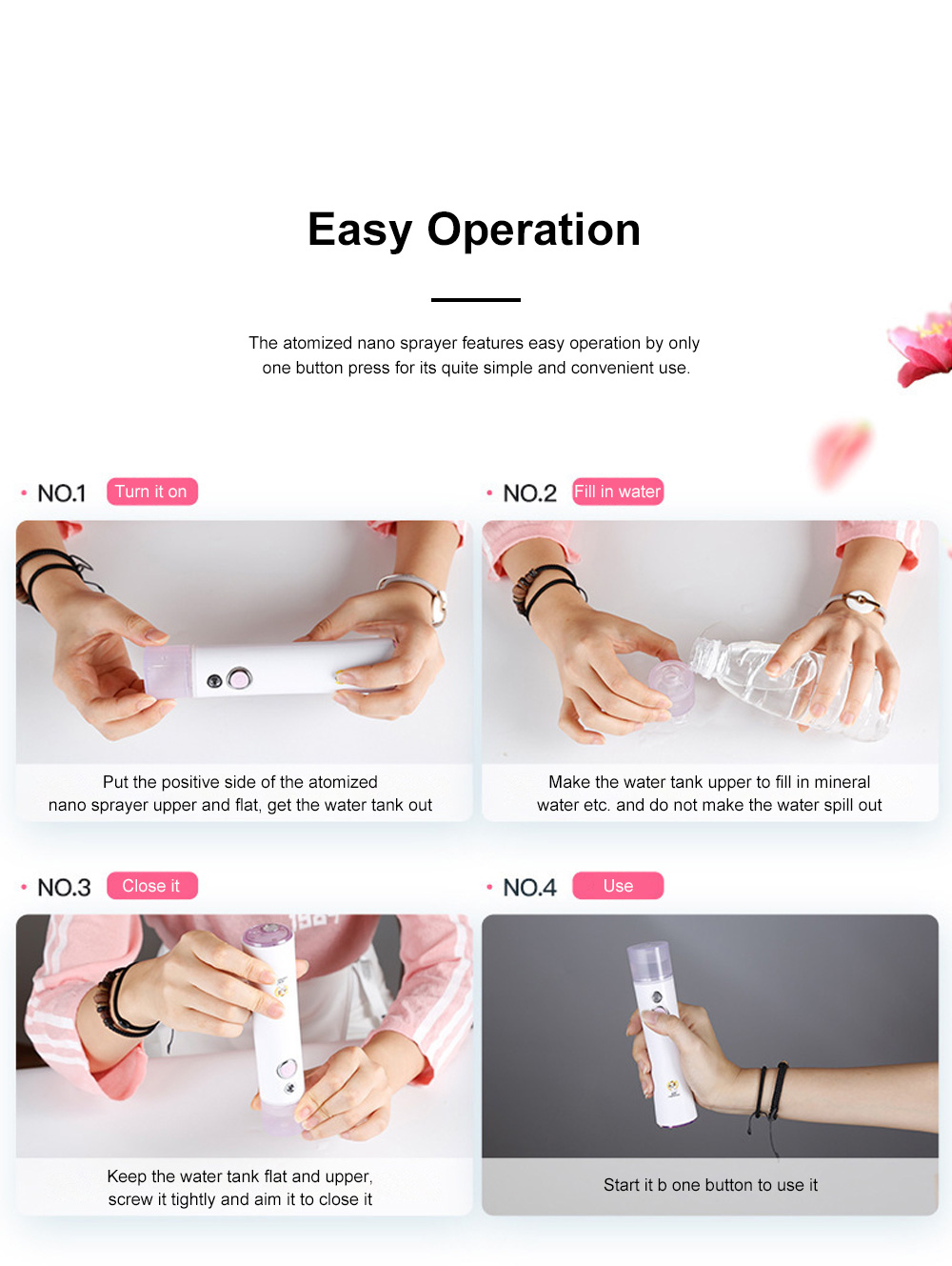 Nano Sprayer for Women Use Portable Rechargeable Cool Spraying Instrument Facial Moisturizer Atomized Facial Water Supply Instrument 5