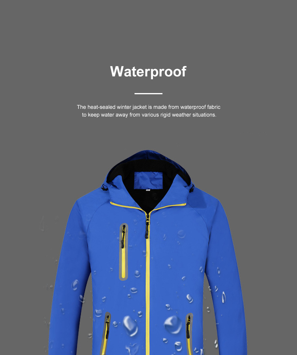 Lovers' Heat-sealed Winter Jacket for Outdoors Hiking Climbing Thickened Waterproof Interchange Jacket Polar Fleece Liner Outdoor Jacket 4
