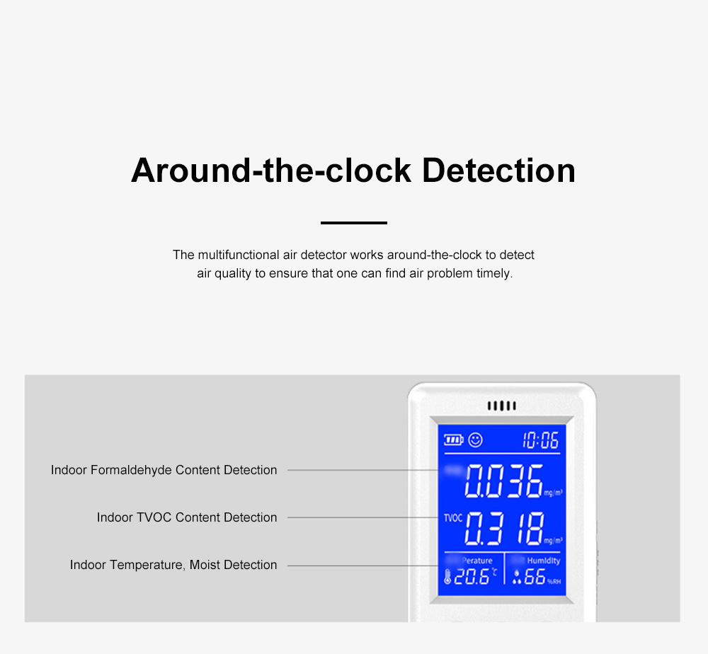 Multifunctional Air Detector for Family Use Indoor Professional Air Quality Detecting Instrument Formaldehyde Measuring Instrument 2