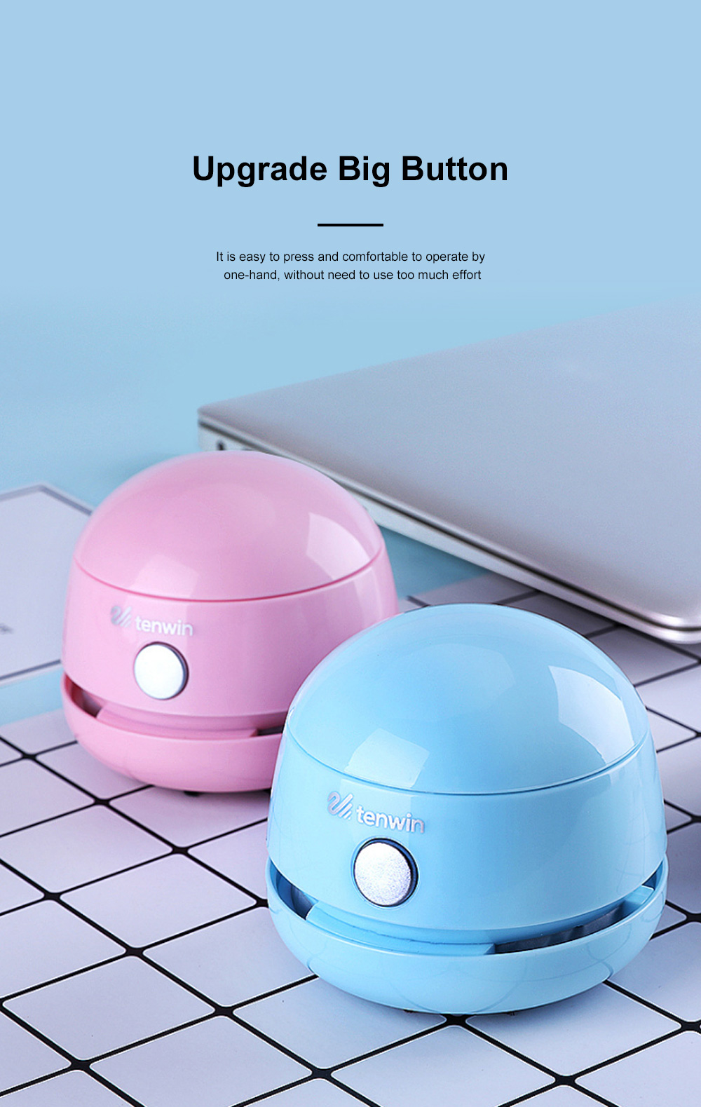 Mini Vacuum Cleaner Desktop Office Cleaner Easily Inhaled Paper Dust Suction Strong And Convenient 3