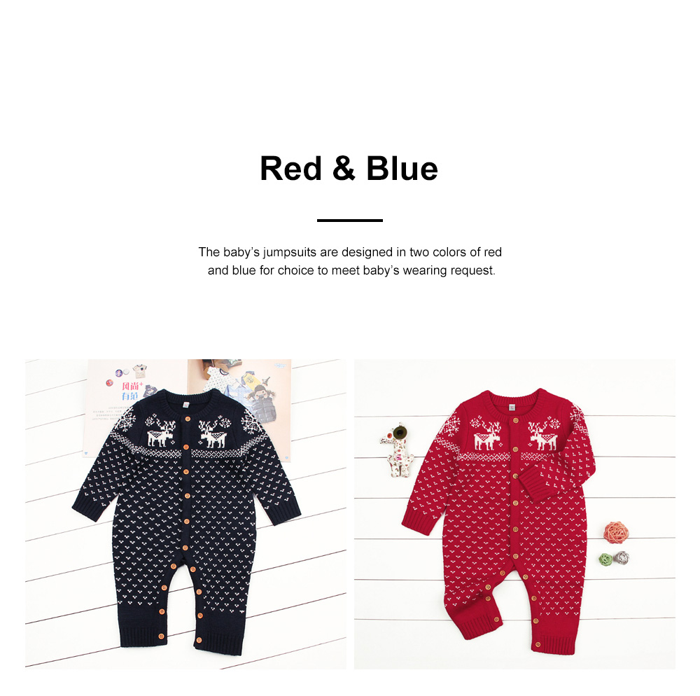 Jumpsuits for Babies and Young Children Knitted Woolen Yarn Coveralls Kids' Wear One-piece Bodysuit 3