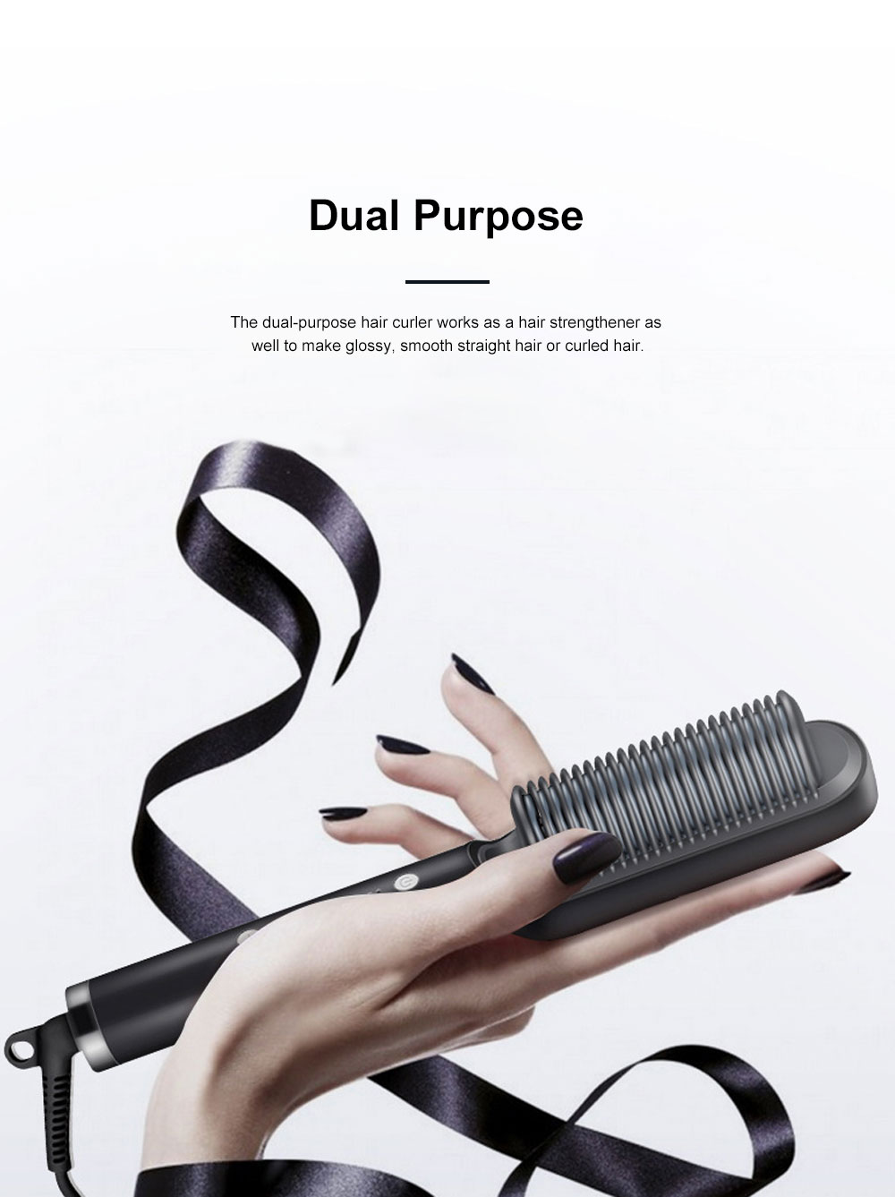 Dual Purpose Hair Curler Straightener for Office Lady Use Electric Hair Curler Consistent Temperature Hair Straighten 5