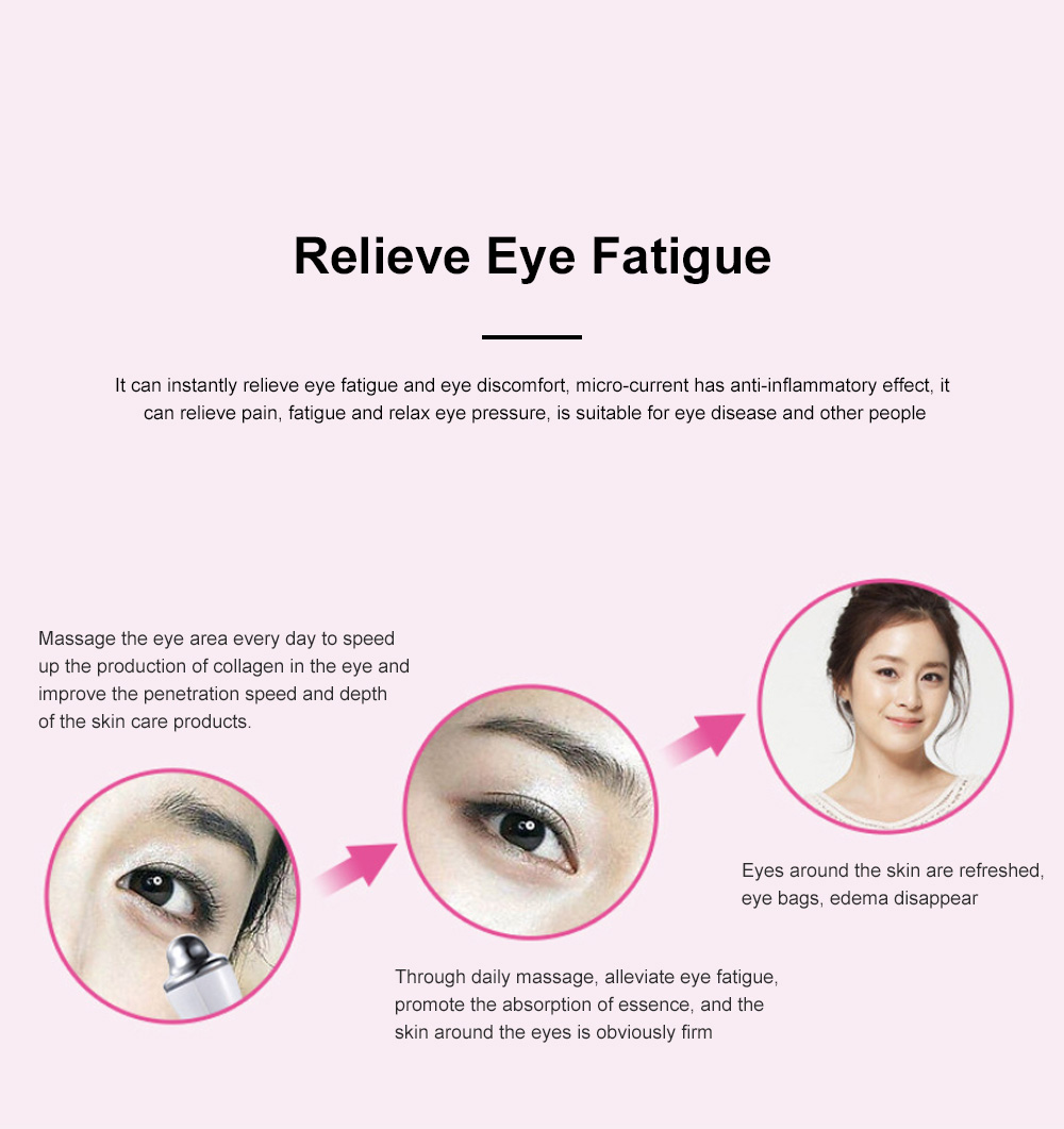 2019 Facial Eye Vibration Massage Lighten Dark Circles and Remove Under-eyes Bags Beauty Products for Women 2