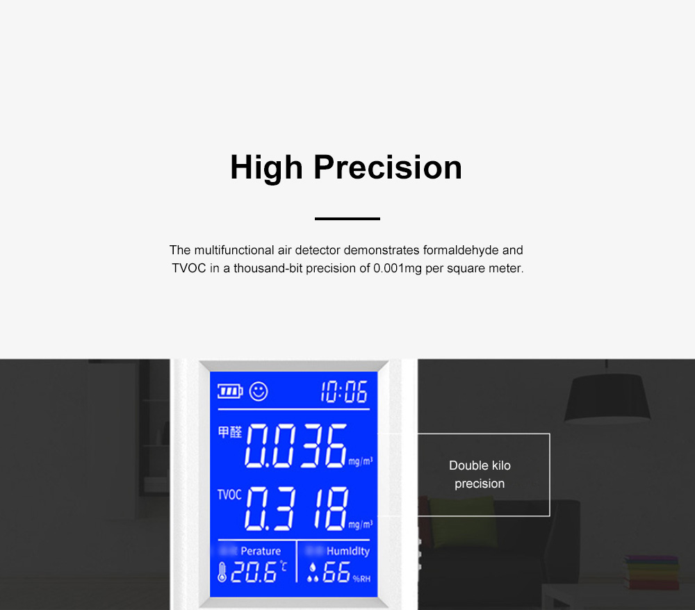 Multifunctional Air Detector for Family Use Indoor Professional Air Quality Detecting Instrument Formaldehyde Measuring Instrument 4