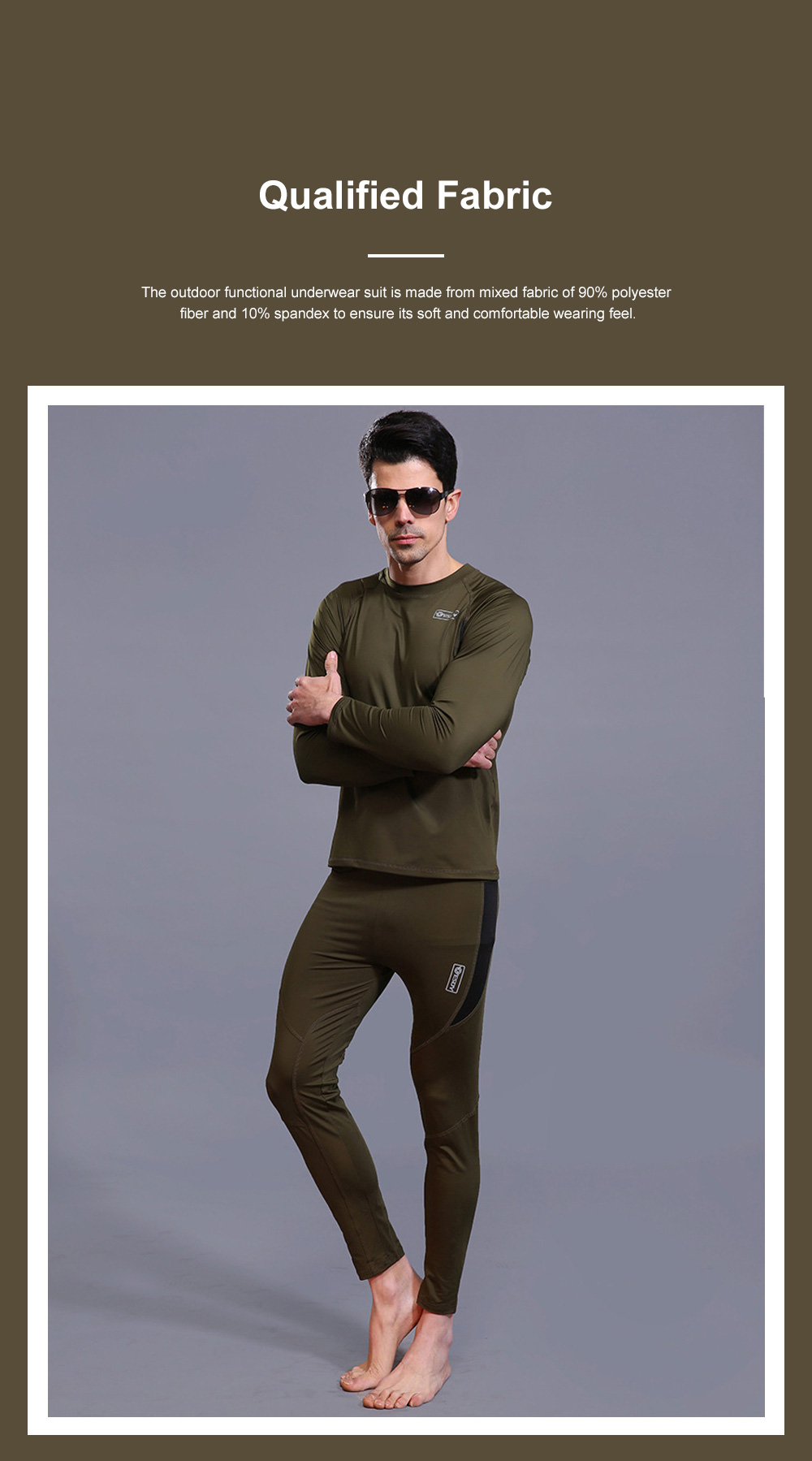 Outdoor Functional Underwear Suit for Outdoors Climbing Bicycle Riding Thermal Fleece Underwear Sweat Suit PT Uniform 2