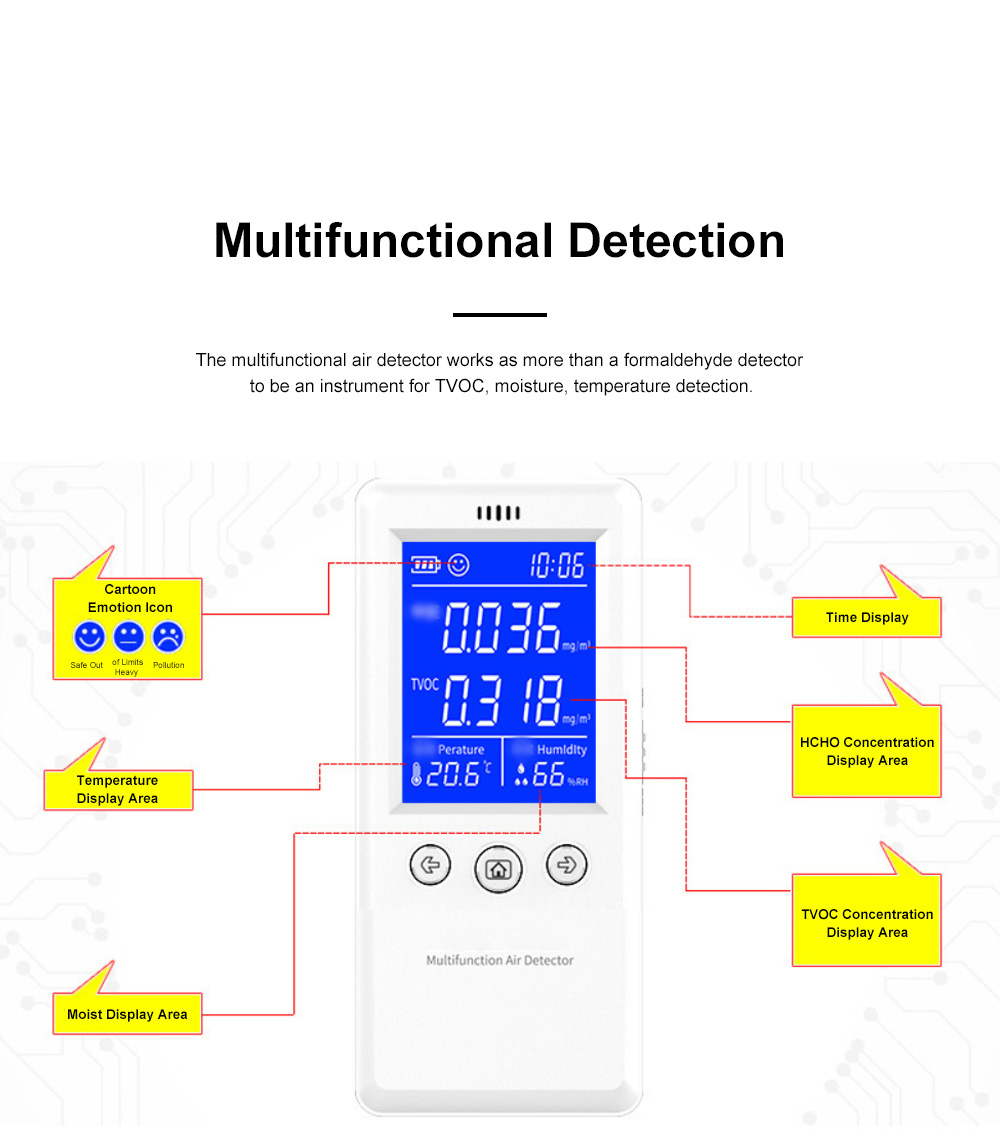 Multifunctional Air Detector for Family Use Indoor Professional Air Quality Detecting Instrument Formaldehyde Measuring Instrument 1