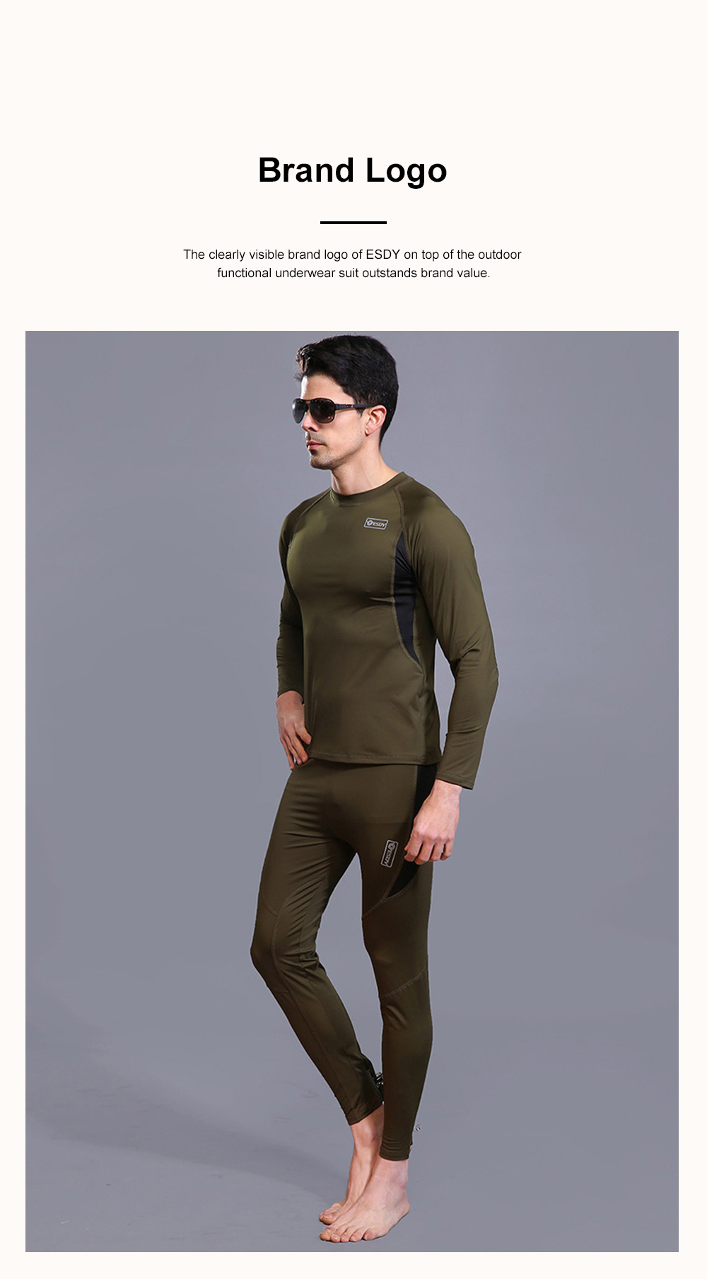 Outdoor Functional Underwear Suit for Outdoors Climbing Bicycle Riding Thermal Fleece Underwear Sweat Suit PT Uniform 1