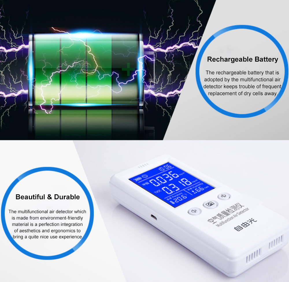 Multifunctional Air Detector for Family Use Indoor Professional Air Quality Detecting Instrument Formaldehyde Measuring Instrument 9