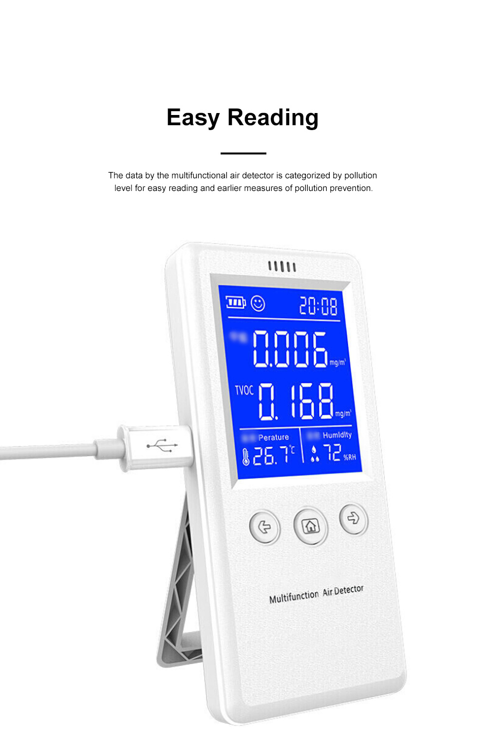 Multifunctional Air Detector for Family Use Indoor Professional Air Quality Detecting Instrument Formaldehyde Measuring Instrument 3