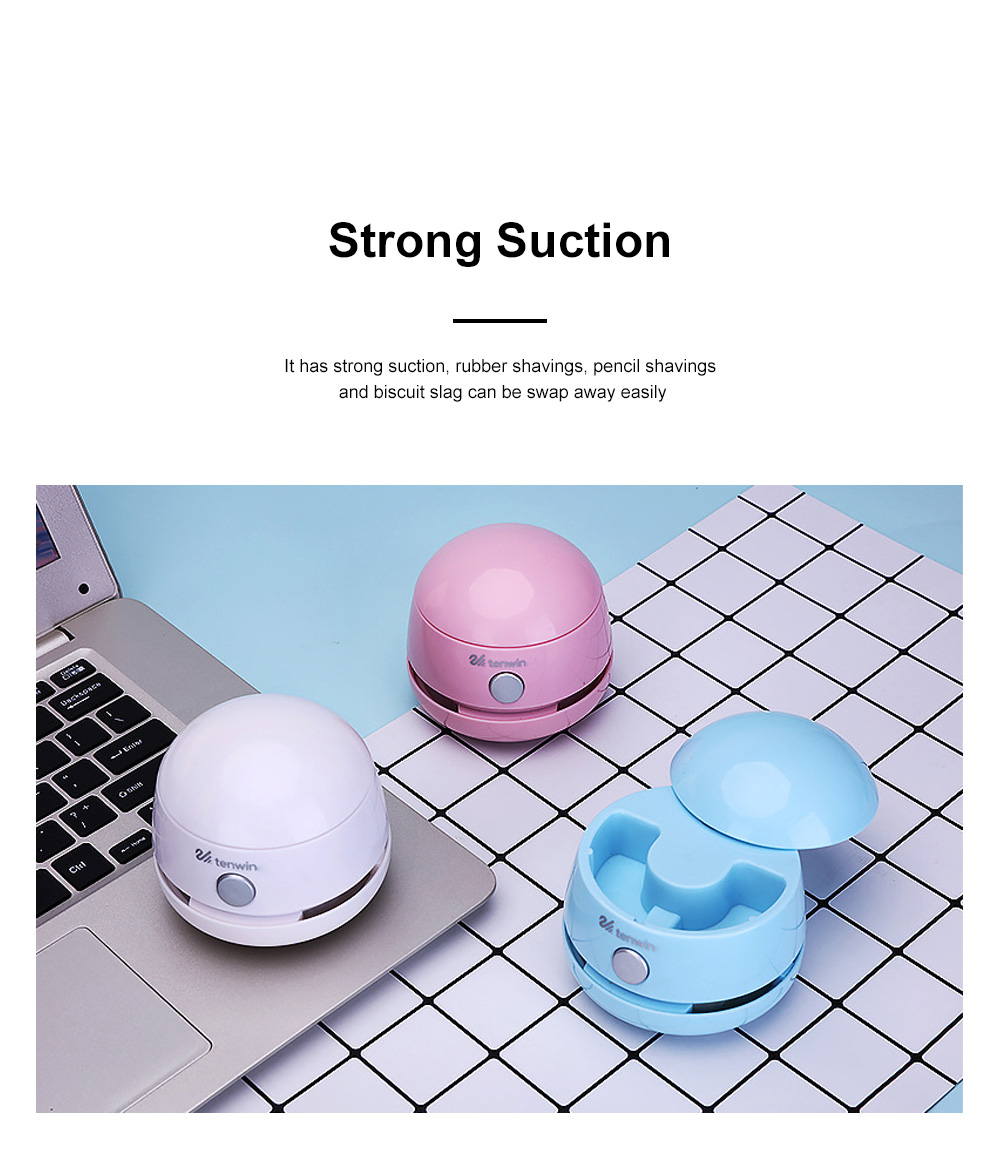 Mini Vacuum Cleaner Desktop Office Cleaner Easily Inhaled Paper Dust Suction Strong And Convenient 4