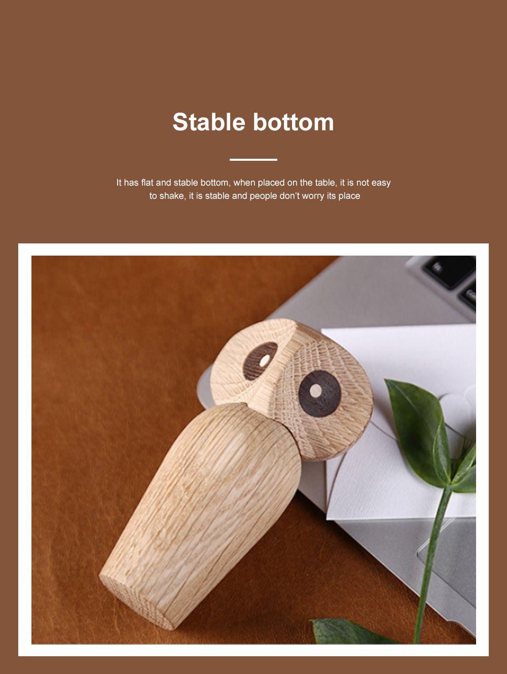 Nordic Style Home Decoration Crafts For Wooden Products Owl Oak Wood Creative Puppet 2