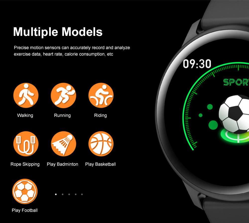 Smartwatch Bracelet Round Screen Heart Rate Meter Blood Pressure Blood Oxygen Sleep Monitoring Smart Watches for Men Women Sports Watch 4