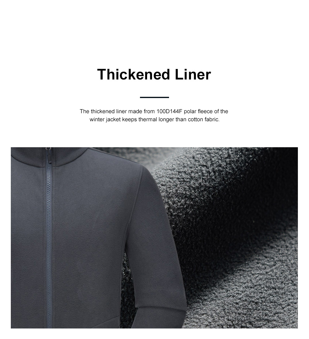 Winter Jacket for Outdoors Climbing Skiing Thickened Thermal Interchange Jacket Three-in-one Two-piece Antiwear Waterproof Outdoor Jacket 5