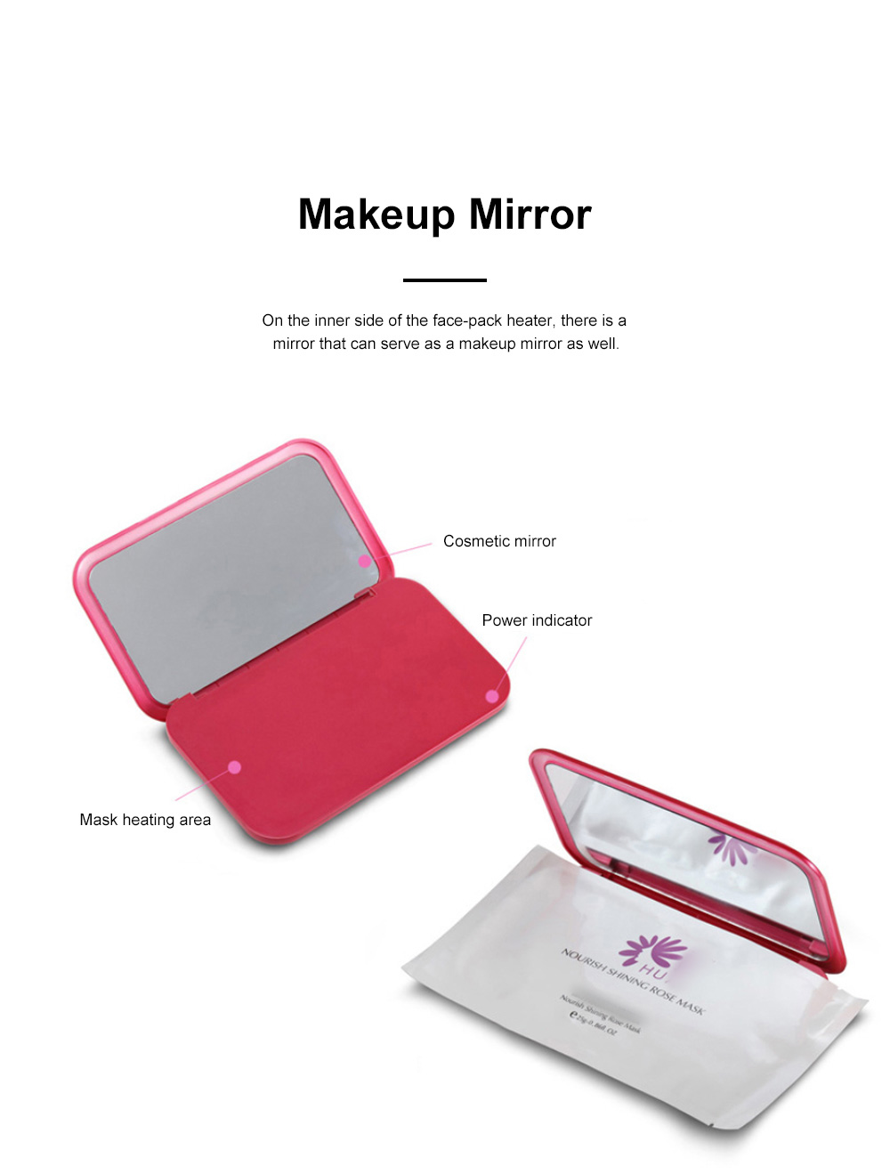 Dual Use Portable Makeup Mirror Facial Mask Heater for Family Use Gift Choice Rechargeable Face-pack Heating Instrument 5