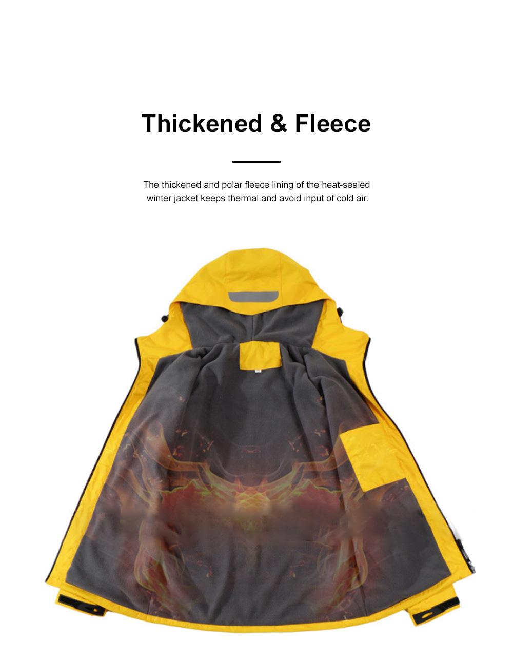 Lovers' Heat-sealed Winter Jacket for Outdoors Hiking Climbing Thickened Waterproof Interchange Jacket Polar Fleece Liner Outdoor Jacket 1