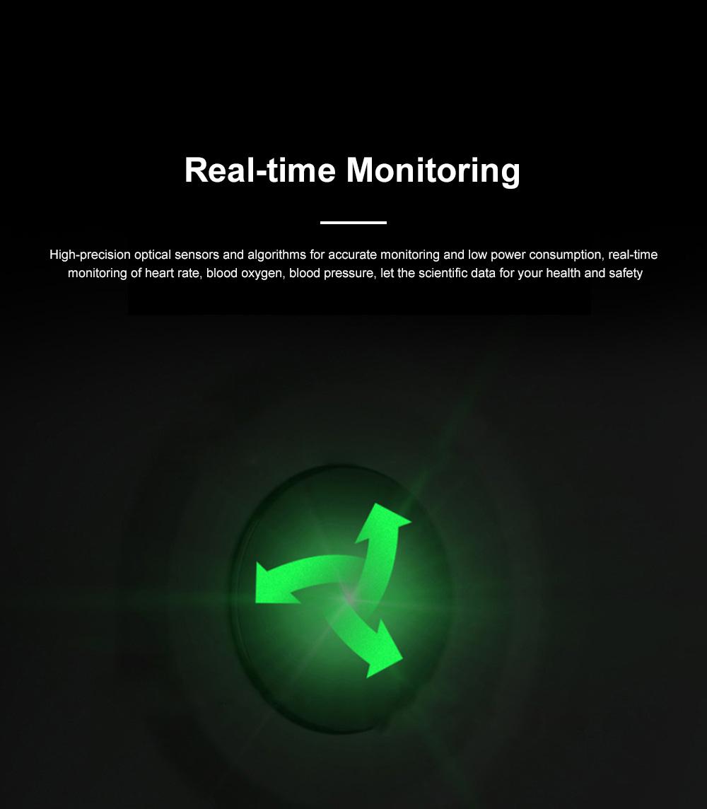 Smartwatch Bracelet Round Screen Heart Rate Meter Blood Pressure Blood Oxygen Sleep Monitoring Smart Watches for Men Women Sports Watch 2