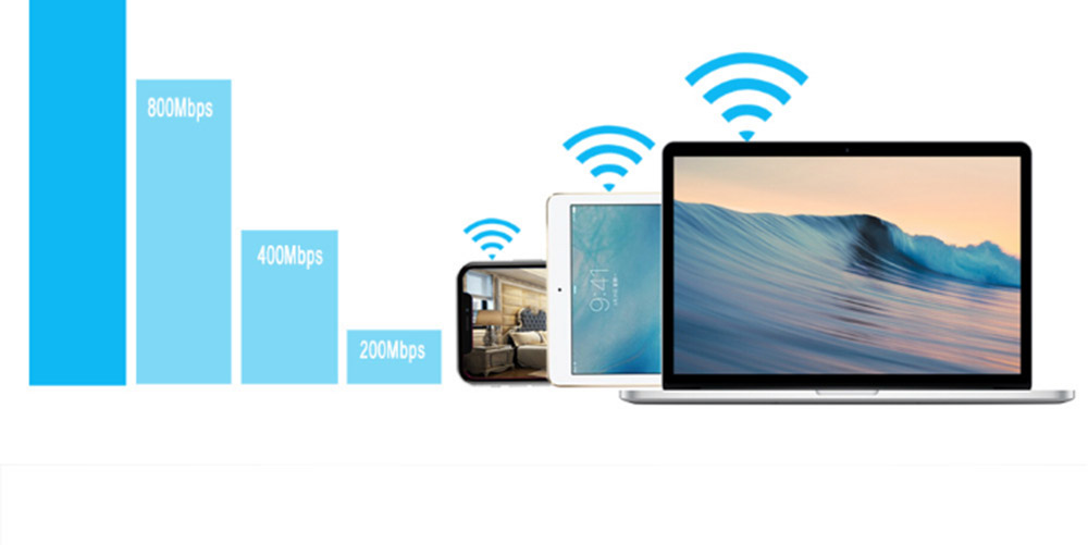 300Mbps WiFi Range Extender 2.4GHz Repeater Signal Booster with 4 External Antennas and Full Coverage WiFi 7