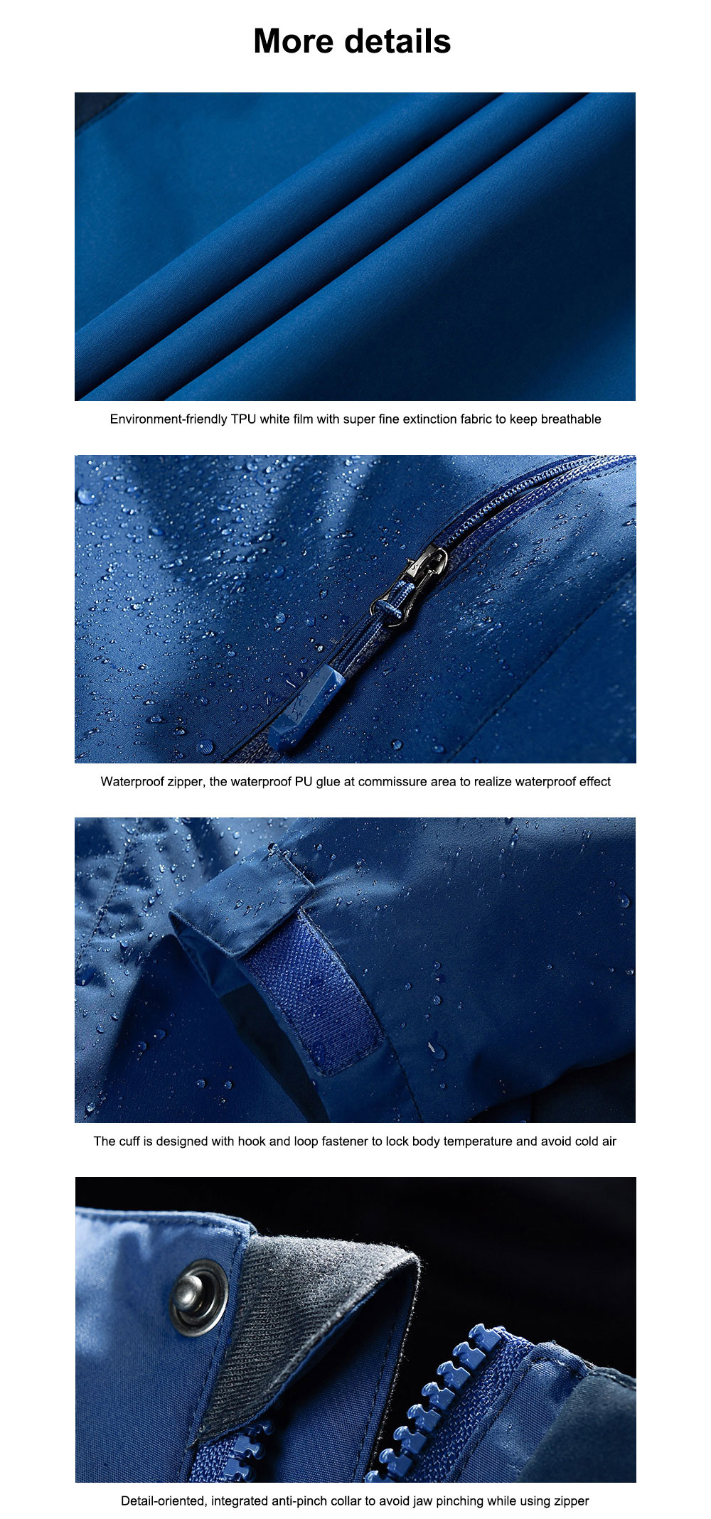 Winter Jacket for Outdoors Climbing Skiing Thickened Thermal Interchange Jacket Three-in-one Two-piece Antiwear Waterproof Outdoor Jacket 8