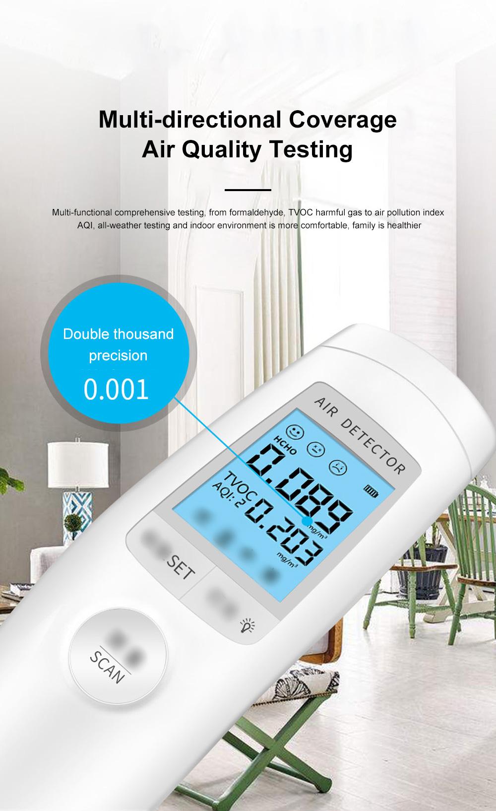 Smart Sensor Formaldehyde Air Quality Monitor Analyzer Temp Temperature Humidity Tester Gas Detector Meter 5