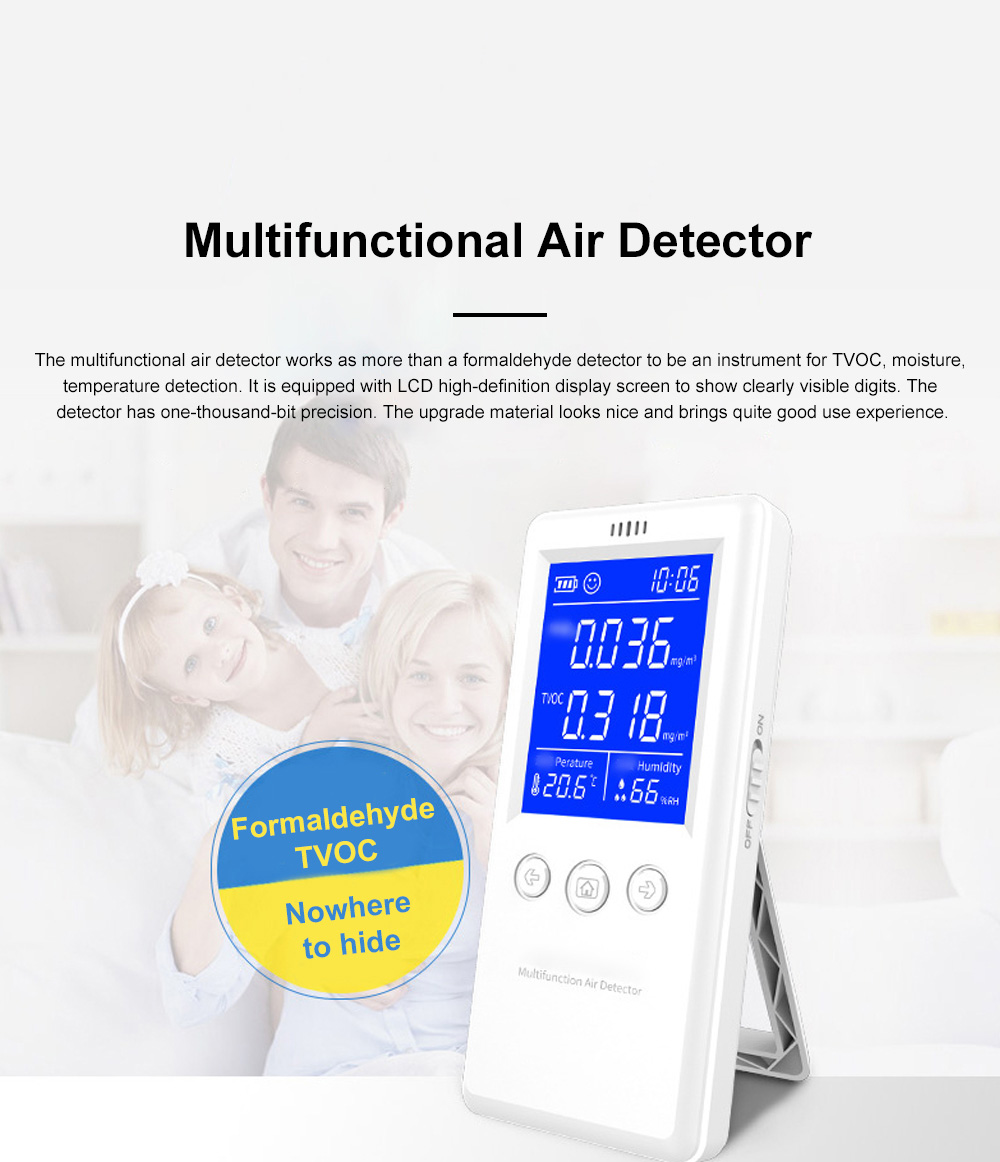 Multifunctional Air Detector for Family Use Indoor Professional Air Quality Detecting Instrument Formaldehyde Measuring Instrument 0