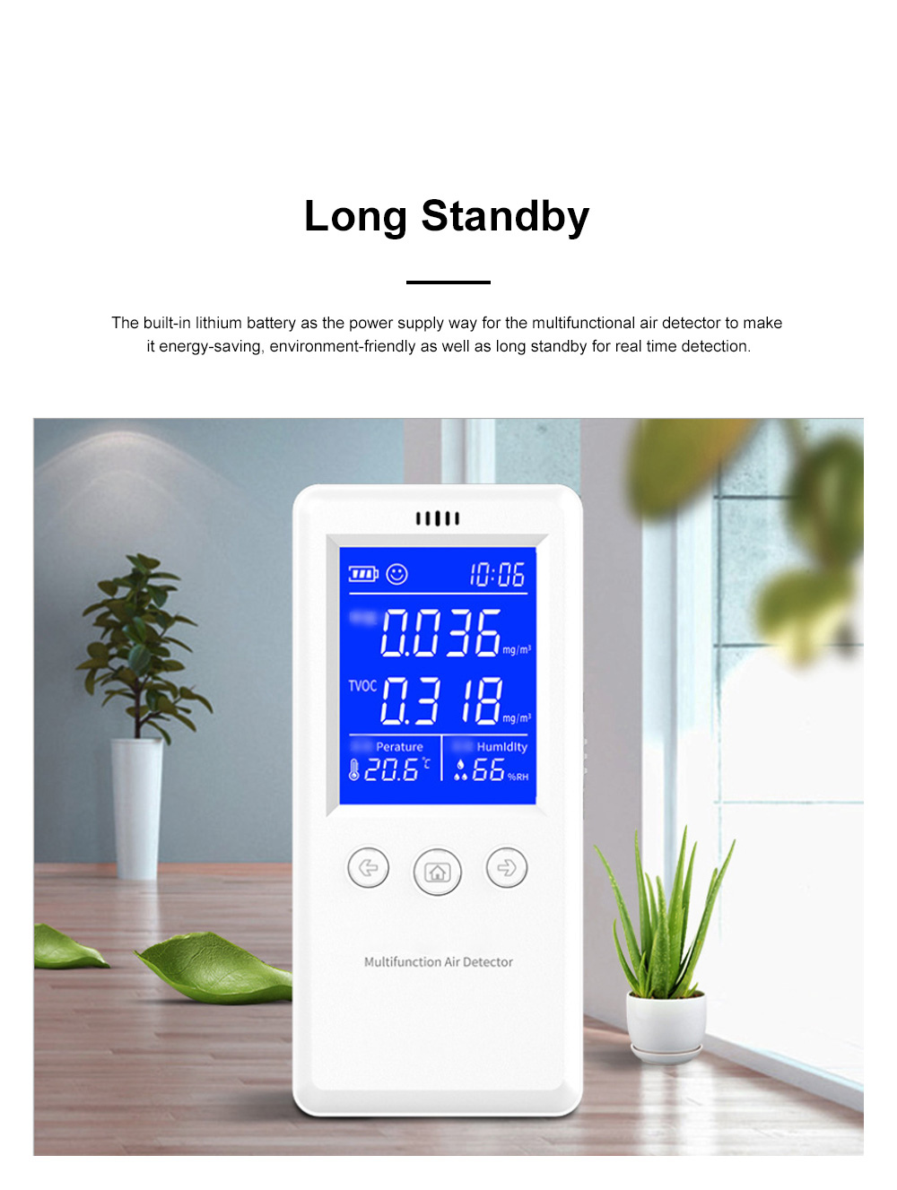 Multifunctional Air Detector for Family Use Indoor Professional Air Quality Detecting Instrument Formaldehyde Measuring Instrument 5