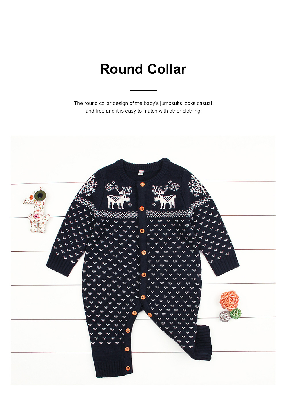 Jumpsuits for Babies and Young Children Knitted Woolen Yarn Coveralls Kids' Wear One-piece Bodysuit 1