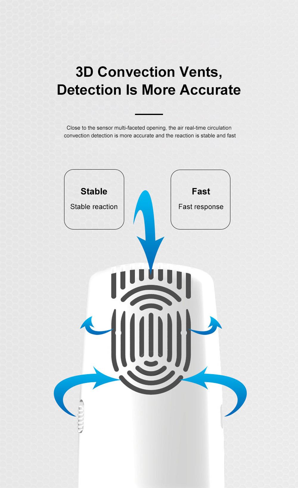 Smart Sensor Formaldehyde Air Quality Monitor Analyzer Temp Temperature Humidity Tester Gas Detector Meter 7