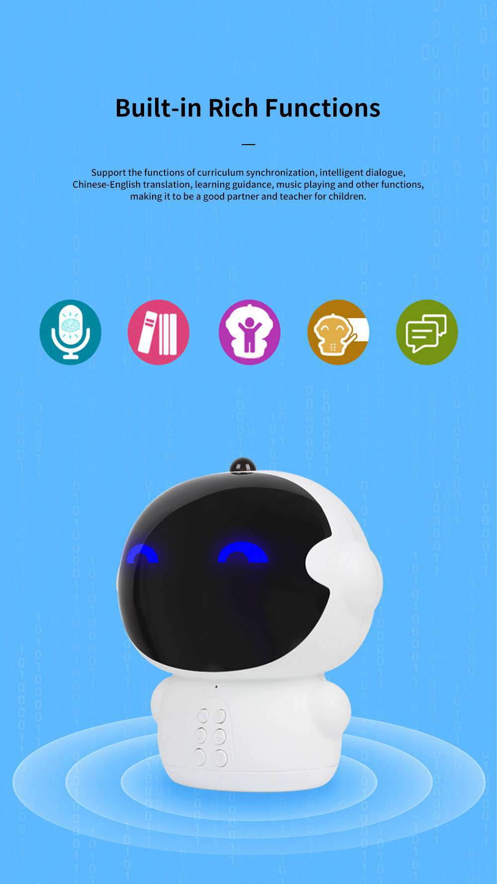 Educational Smart Robot for Children Early Childhood Learning Machine Support Wifi Chatting Music Story Kinds of Knowledge and Rich Functions 4