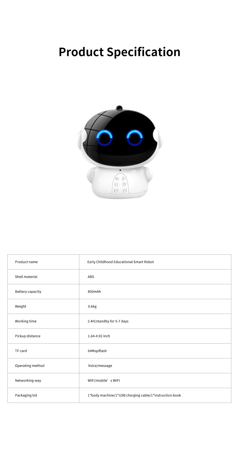 Educational Smart Robot for Children Early Childhood Learning Machine Support Wifi Chatting Music Story Kinds of Knowledge and Rich Functions 6