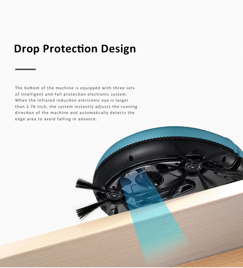 Home Cleaning Robotic Machine Vacuum Cleaner with 1200Pa Ultra Strong Suction and 1500mAh Battery for House cleaning and Air Purifying 9