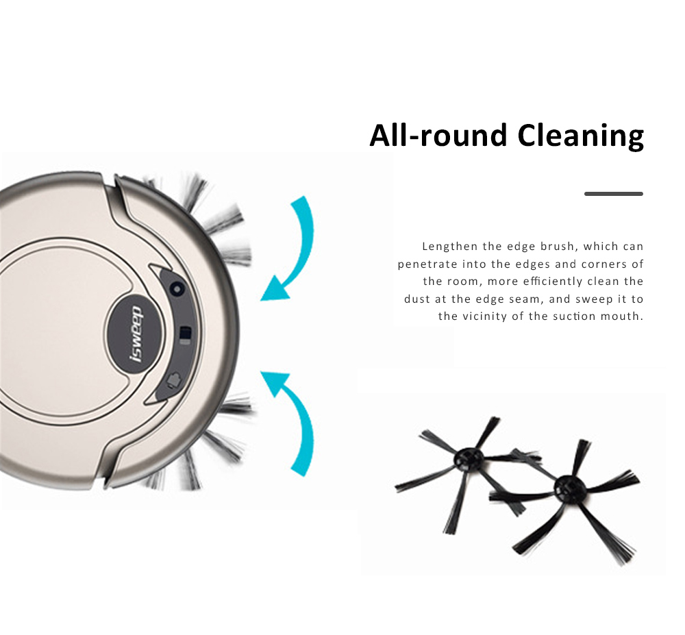 Home Cleaning Robotic Machine Vacuum Cleaner with 1200Pa Ultra Strong Suction and 1500mAh Battery for House cleaning and Air Purifying 4