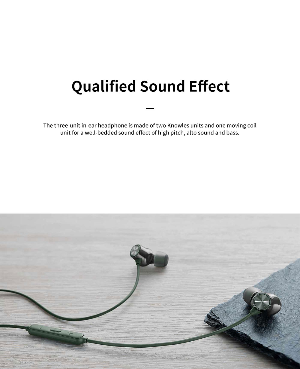ONEPLUS Bullet Wireless 2 In-ear Headphone for Music Listening Phone Calling Warp Charge and Quick Connection Bluetooth Earphone 5