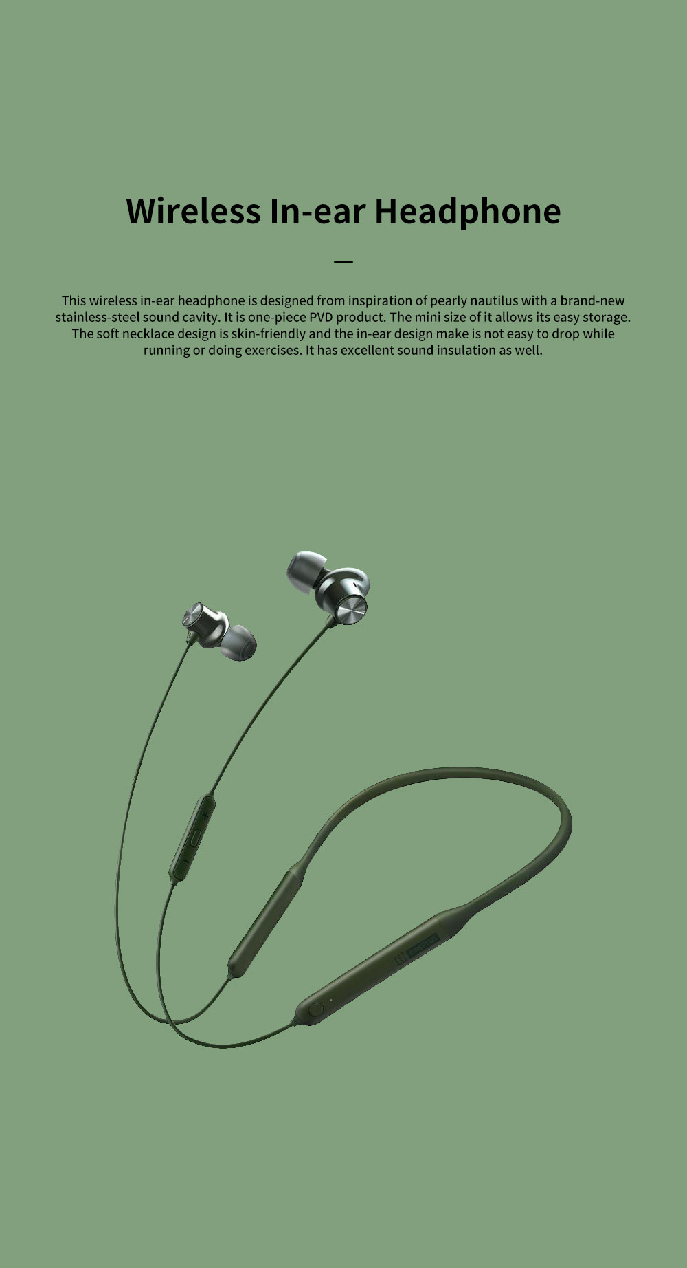 ONEPLUS Bullet Wireless 2 In-ear Headphone for Music Listening Phone Calling Warp Charge and Quick Connection Bluetooth Earphone 0