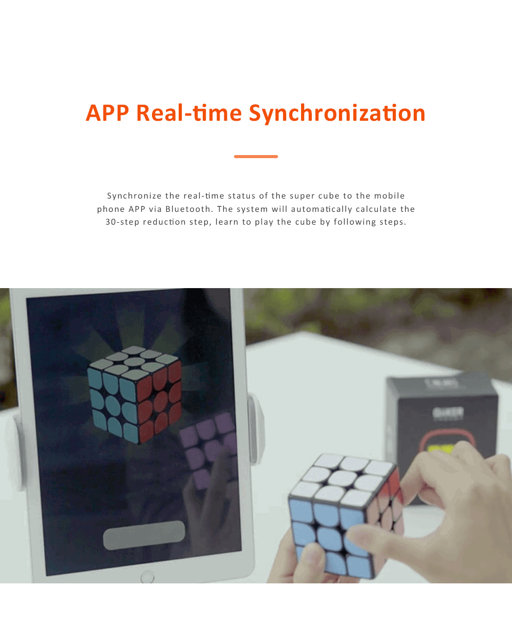 MI GIIKER Intelligent Super Cube Smart Magic Cube with Bluetooth Connection Real-time Sync for Education and Playing 3