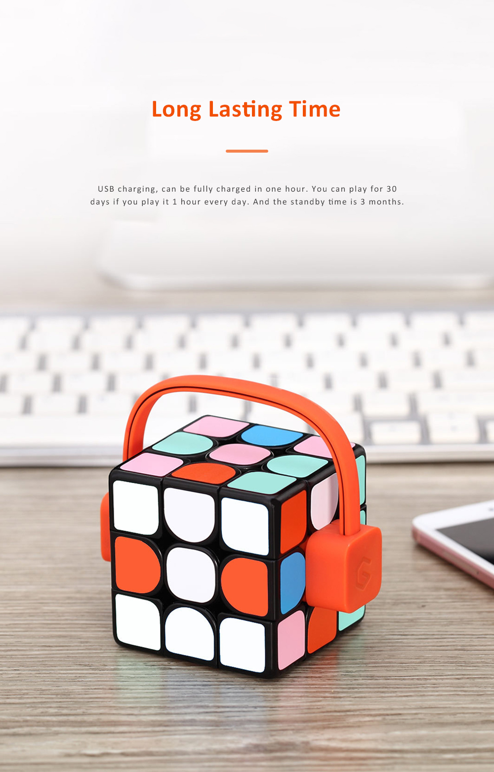 MI GIIKER Intelligent Super Cube Smart Magic Cube with Bluetooth Connection Real-time Sync for Education and Playing 5