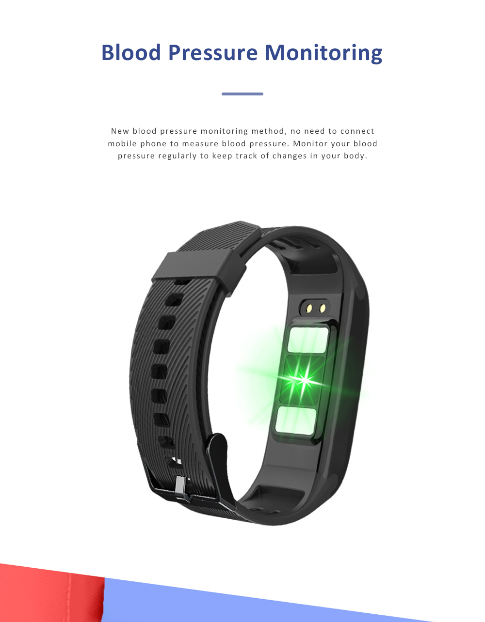 Smart Sports Wristband Bracelet IP67 Fitness Tracker Bracelet for Fat Detecting Blood Pressure Heart Rate Sleeping Quality Monitoring 4