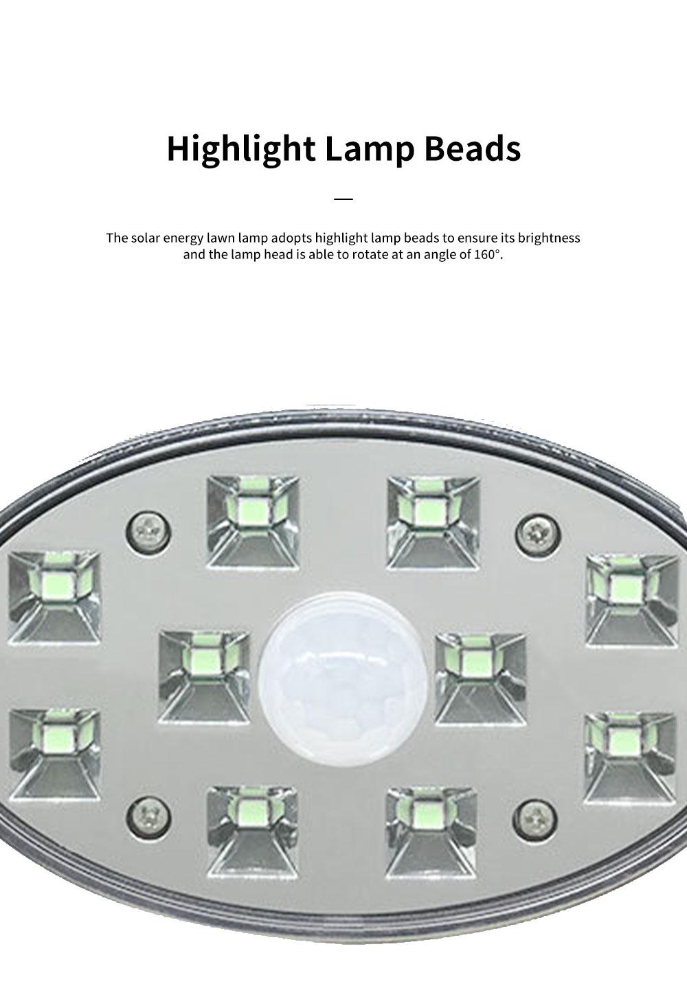 Solar Energy Ultra Thin Wall Lamp for Lawn Lighting Decoration Body Sensing Flat Panel Lawn Light Ultrathin Waterproof Lawn Lamp 4