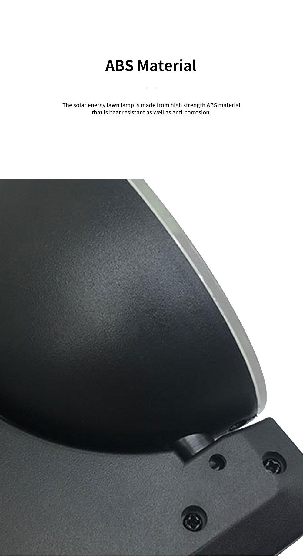 Solar Energy Ultra Thin Wall Lamp for Lawn Lighting Decoration Body Sensing Flat Panel Lawn Light Ultrathin Waterproof Lawn Lamp 3