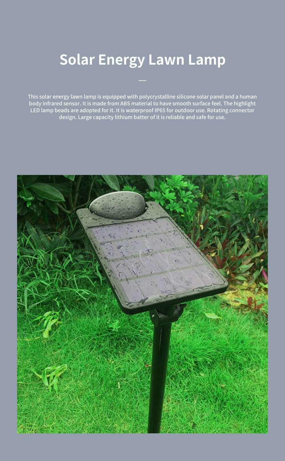 Solar Energy Ultra Thin Wall Lamp for Lawn Lighting Decoration Body Sensing Flat Panel Lawn Light Ultrathin Waterproof Lawn Lamp 0